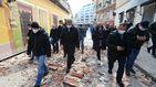 Tres temblores sacuden a Zagreb y les obligan a saltarse las restricciones