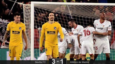 El Sevilla abre las costuras del Atlético de Madrid y lo aparta de su segundo título