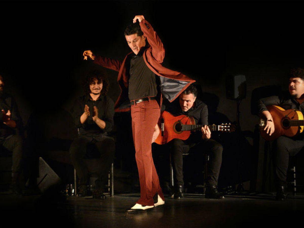 Foto: Miguel Soto (i), Jesús Corbacho, Rafael Campallo (c), David Vargas y Jesús Rodríguez (d) en el Teatro Real. (Juanlu Vela)