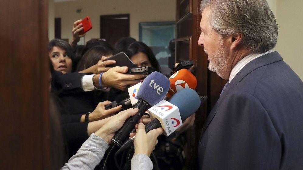 Foto: Comparecencia de Íñigo Méndez de Vigo en la comisión de Cultura del Congreso el pasado 29 de noviembre. Foto: EFE/J.J. Guillén