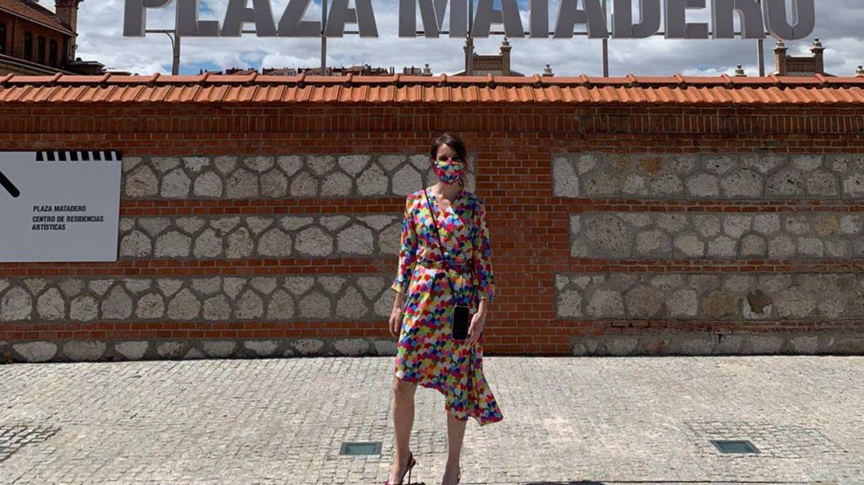 Andrea Levy, en la puerta de Matadero, Madrid. (Cortesía)