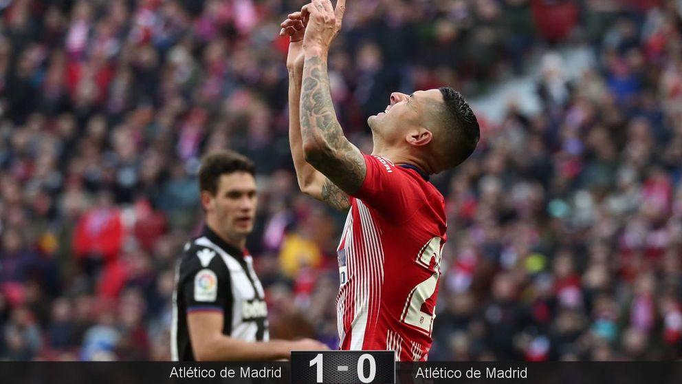 Simeone rescata a Vitolo y el Atlético se aprovecha de jugar un día bien al fútbol
