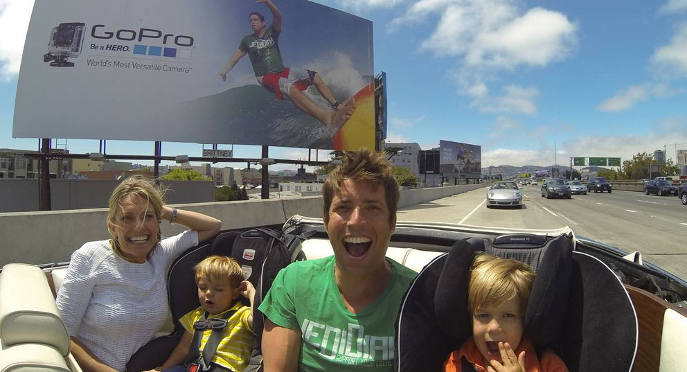 Foto: Nick Woodman, fundador de GoPro, junto a su familia (GoPro)