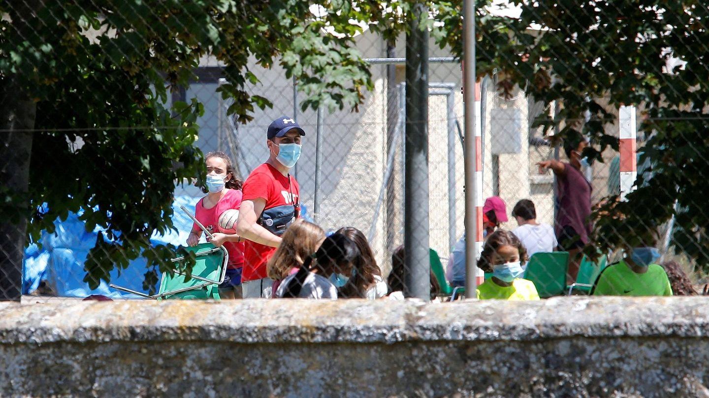 Imagen de un campamento en Soria. Foto: Efe.