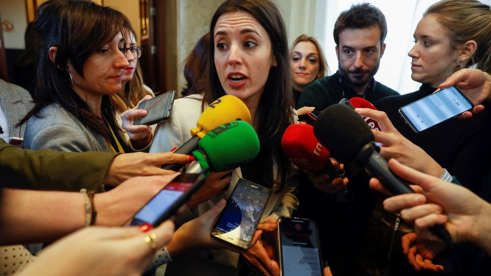 Foto: La portavoz de Unidos Podemos, Irene Montero. (EFE)