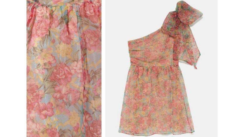 Este vestido de organza de Zara puede ser tuyo por 40€. (Cortesía)