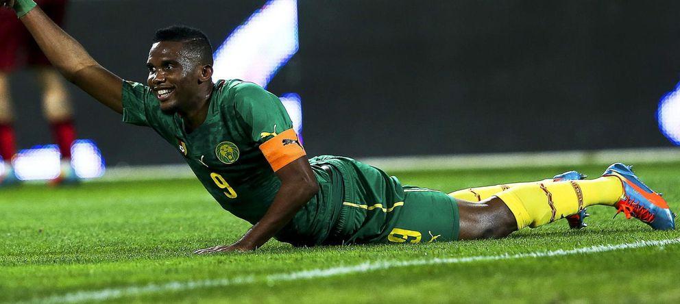 Foto: Samuel Eto'o, durante un partido de la selección de Camerún.
