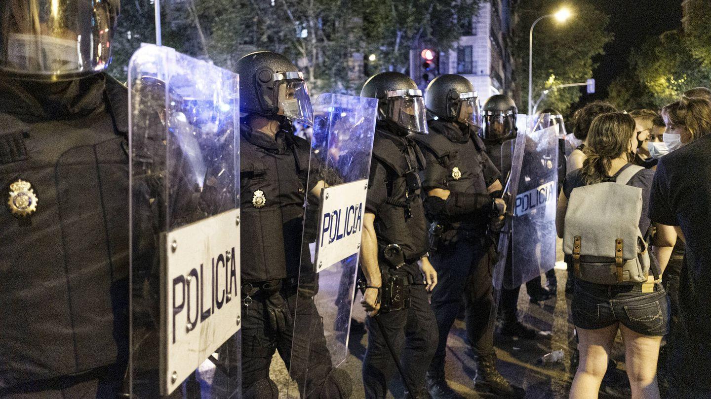 Cordón policial en Madrid. (Sergio Beleña)