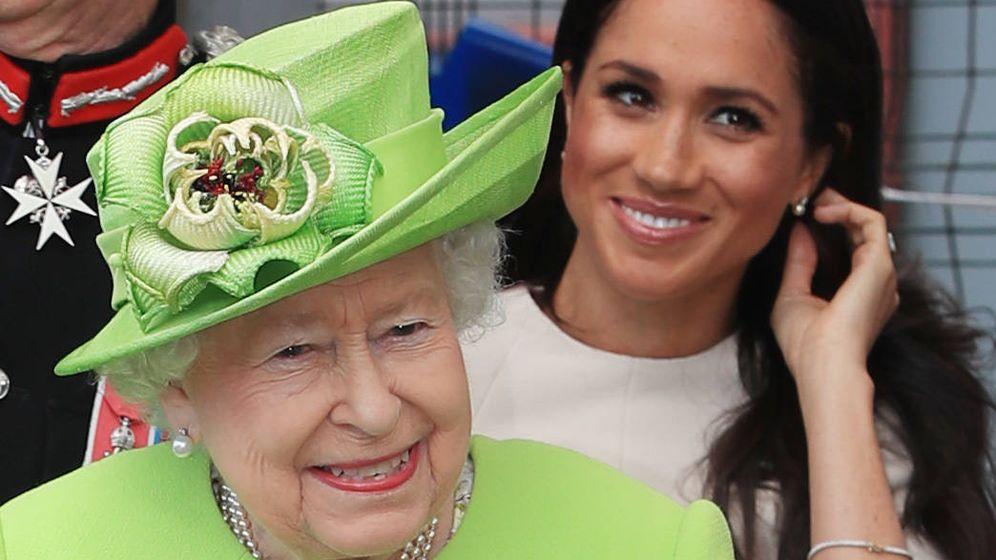 Foto:  Meghan Markle y la reina Isabel II. (Getty)
