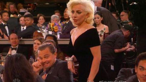 Lady Gaga empuja a Leonardo DiCaprio