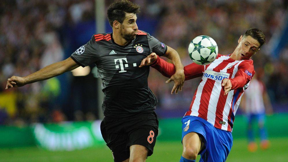 Foto: Javi Martínez, en el Atlético-Bayern del Calderón (Gregorio López/Cordon Press).