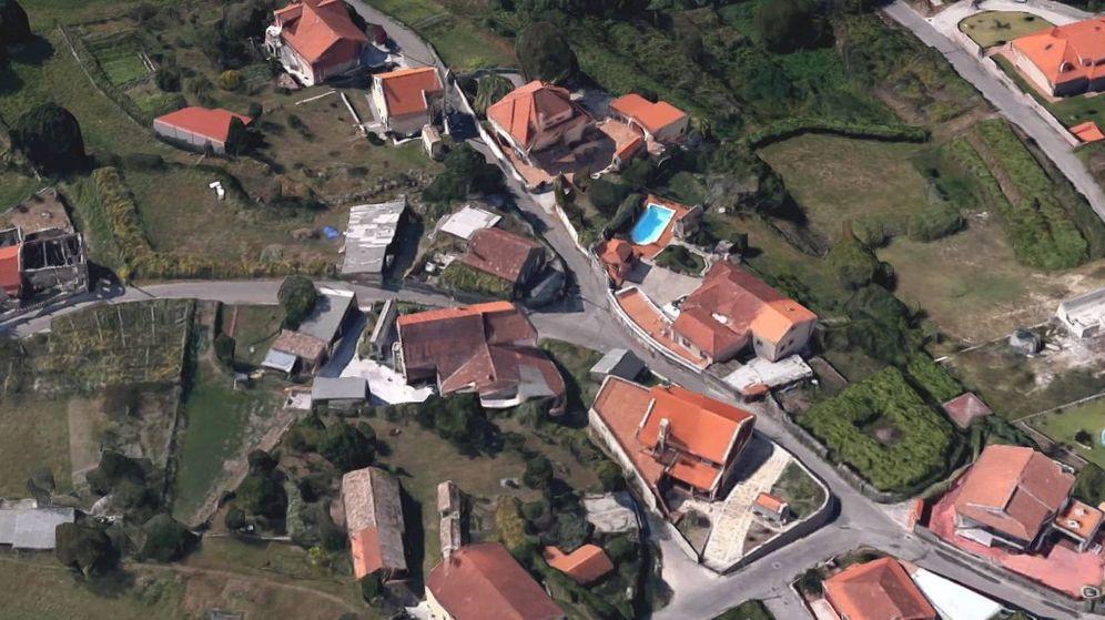 Foto: Vista aérea de la parroquia de Mourente donde ha desaparecido Judit (Google Maps)