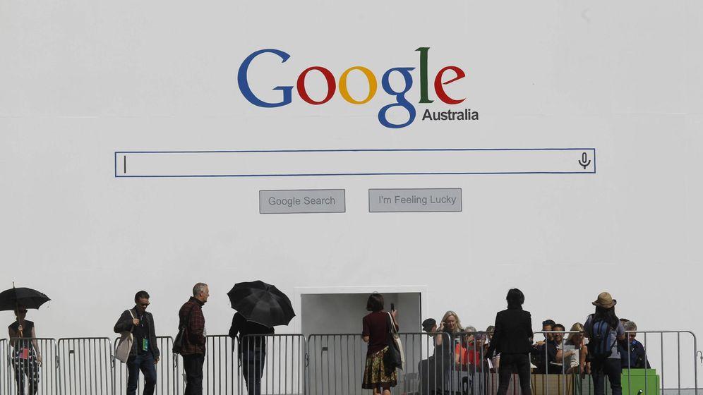 Foto: Logo de Google en la Bienal de Sidney. (EFE)