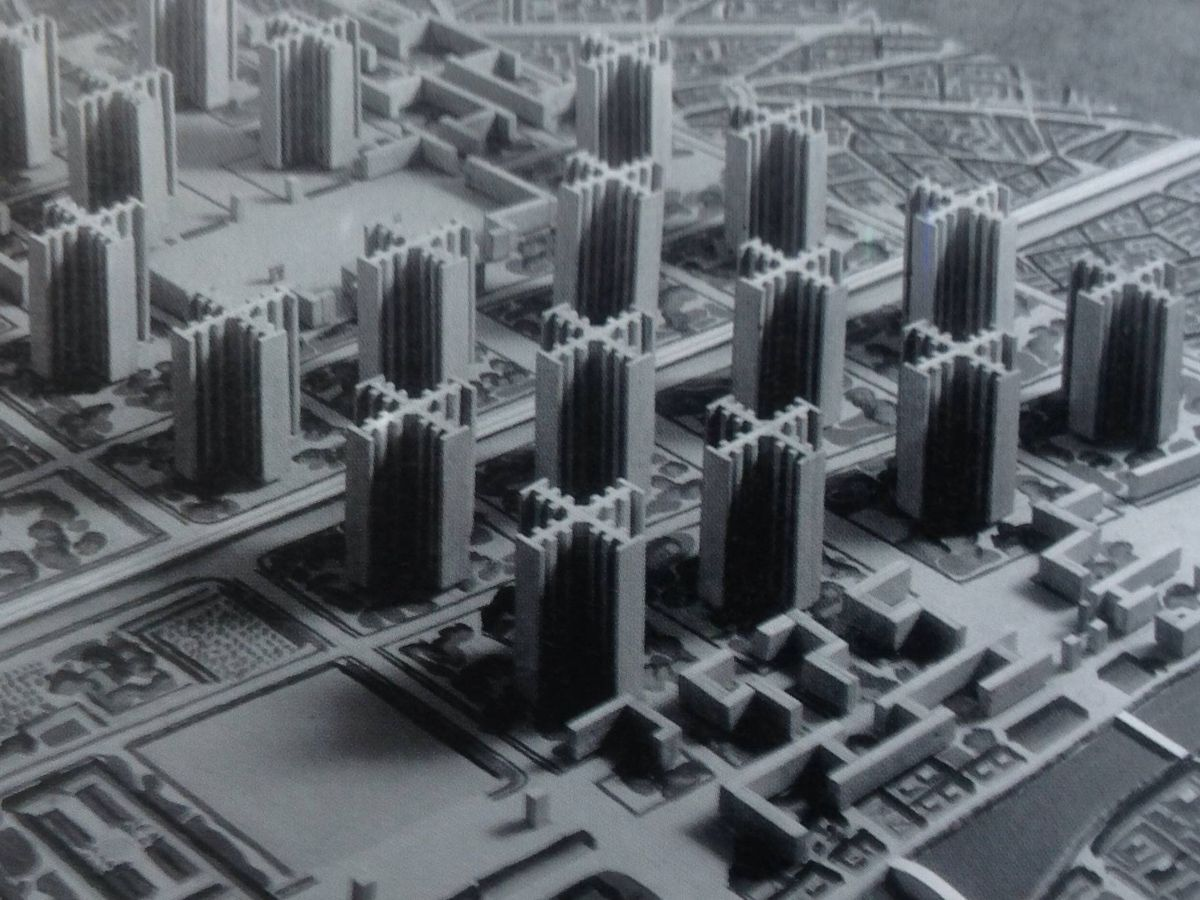 Foto: Imagen del Plan Voisin de Le Corbusier, una idea para la ciudad de París de comienzos del siglo XX. (SiefkinDR / Wikimedia Commons)