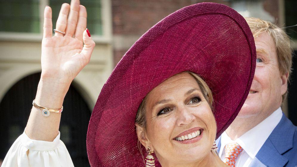 Foto: La reina Máxima, este miércoles en Betuwe. (Getty)