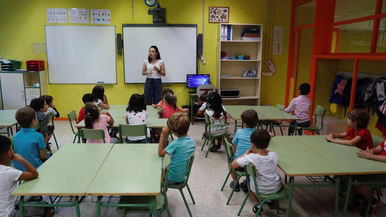 Niños en un colegio madrileño. (EFE)
