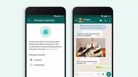 Llegan a WhatsApp los mensajes que se 'autodestruyen': así funcionan los envíos temporales