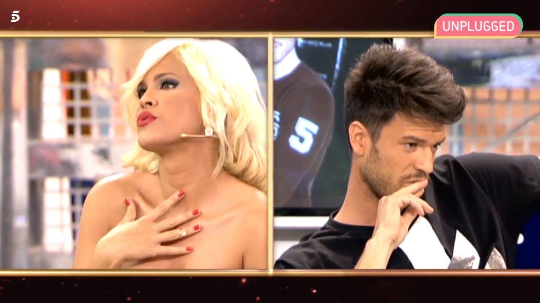 Ylenia y Fede en el programa de Telecinco. (Mediaset España)