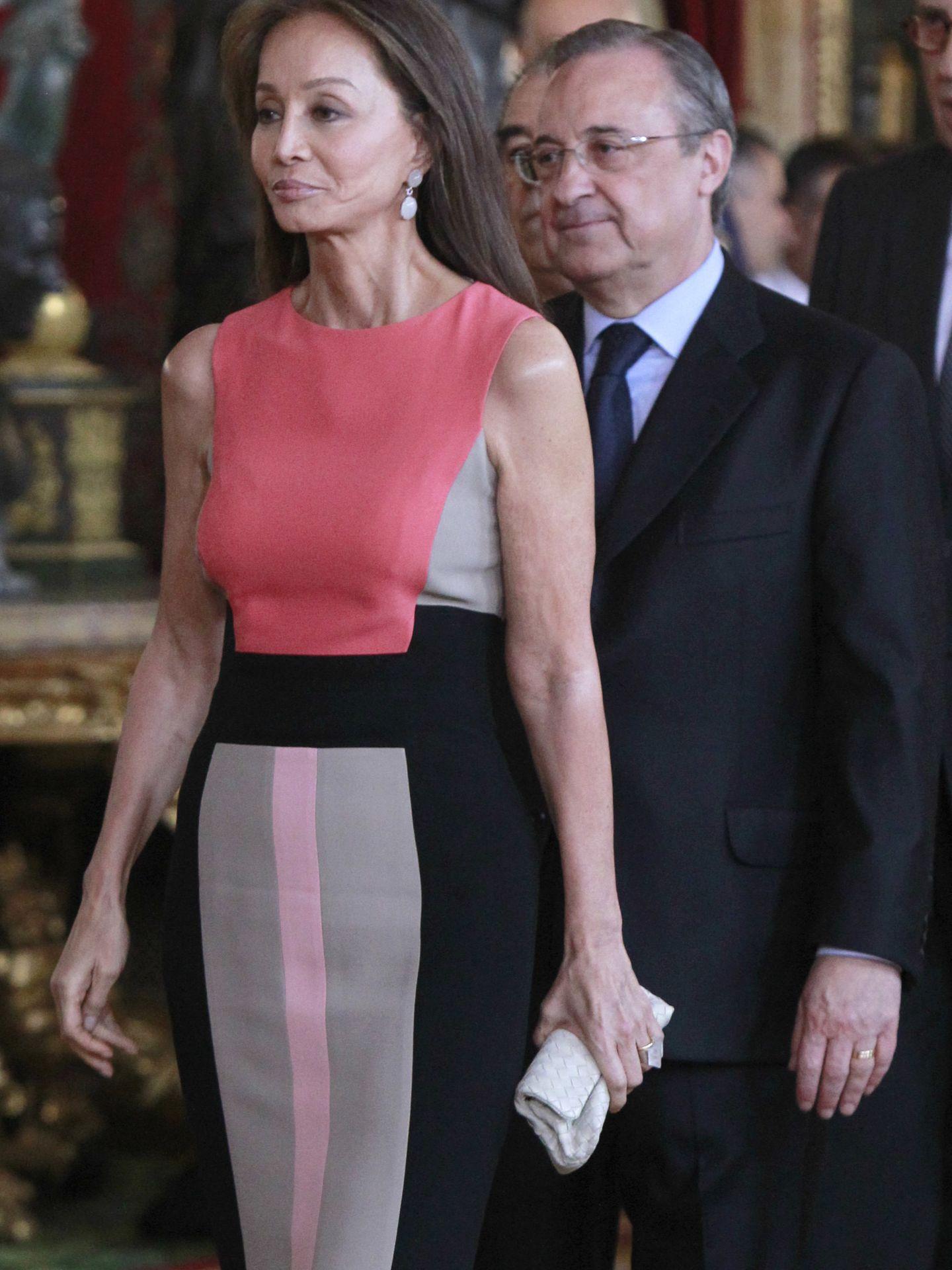 Florentino Pérez e Isabel Preysler en el Palacio Real (Gtres)