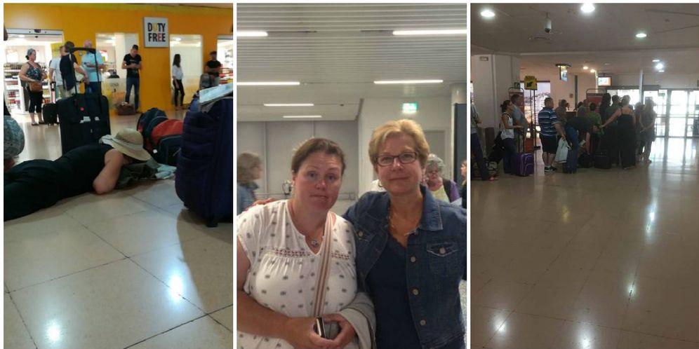 Foto: Imágenes de los pasajeros del vuelo. (Twitter)