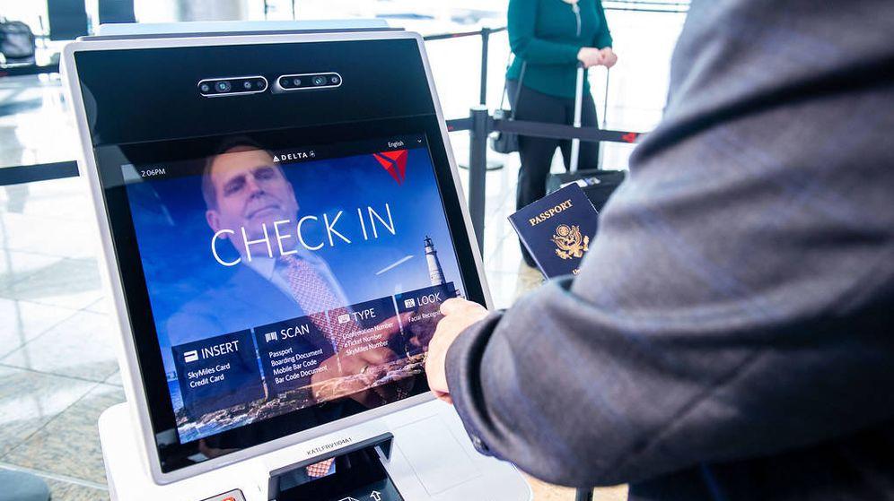 Foto: Sistema de reconocimiento facial en el aeropuerto Internacional de Atlanta. (Chris Rank)