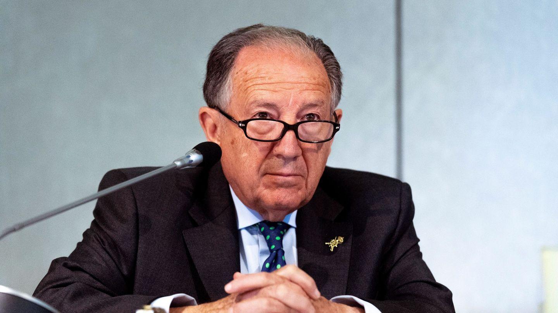 El general Félix Sanz Roldán en una intervención en un seminario en Toledo. (EFE)