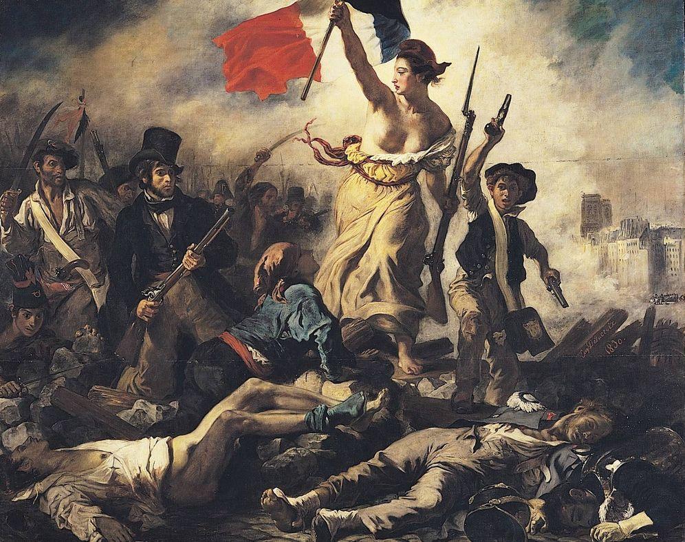 Foto: 'La libertad guiando al pueblo', Eugène Delacroix.