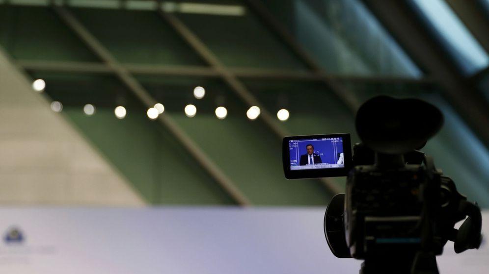 Foto: Rueda de prensa de Mario Draghi. (Reuters)
