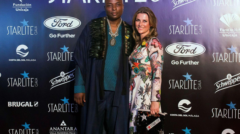 Marta Luisa y Durek Verret, en la gala Starlite de Marbella. (EFE)