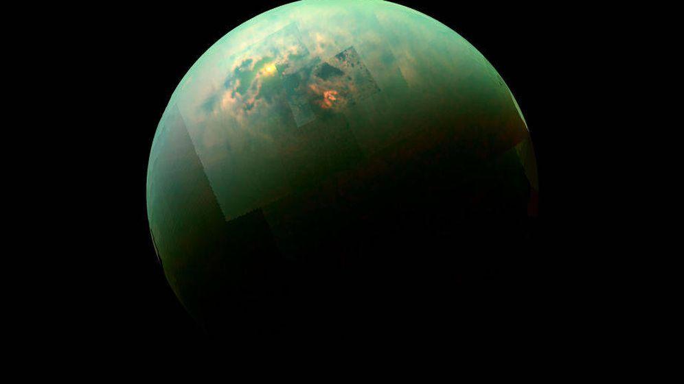 Foto: Imagen de Titán tomada por Cassini. (FOTO: NASA)