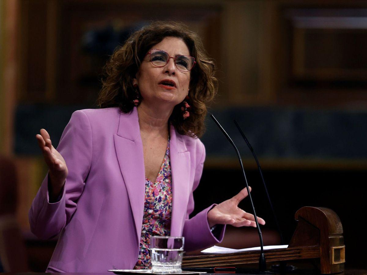 Foto:  La ministra de Hacienda, María Jesús Montero, en una imagen de abril. (EFE)