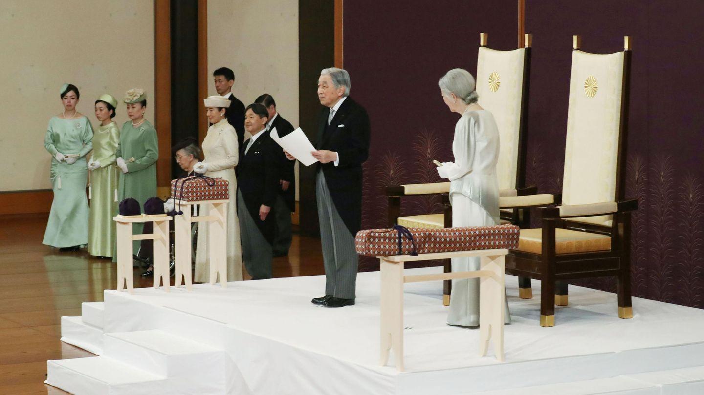 Ceremonia de abdicación de Akihito. (Reuters)