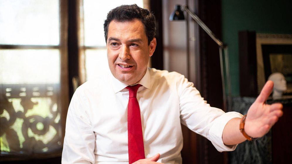 Foto: El presidente de la Junta de Andalucía, Juanma Moreno. (Fernando Ruso)