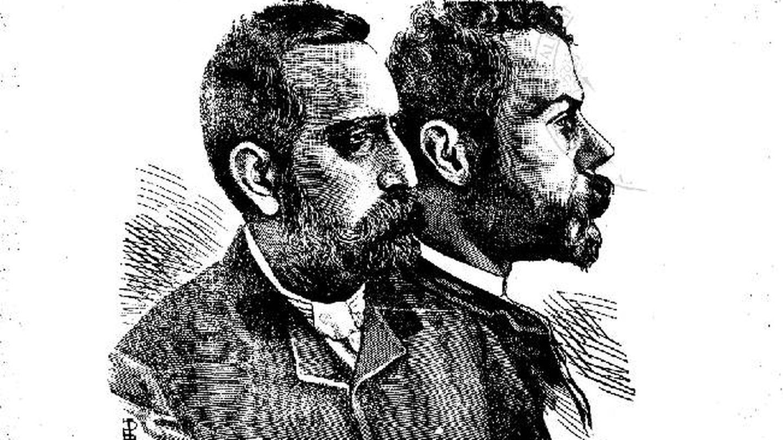 Un dibujo de Jaume Ferran y su colaborador Innocent Paulí (Salvador Tió i Sauleda / Galerías de Metges Catalans)