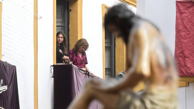 Lourdes Montes en la Semana Santa sevillana. (Cordon Press)