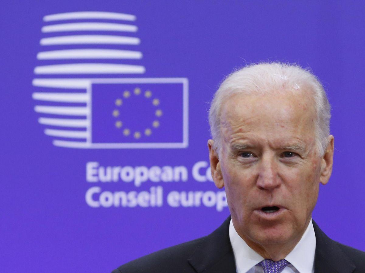 Foto: Biden durante una visita al Consejo Europeo en 2015. (Reuters)