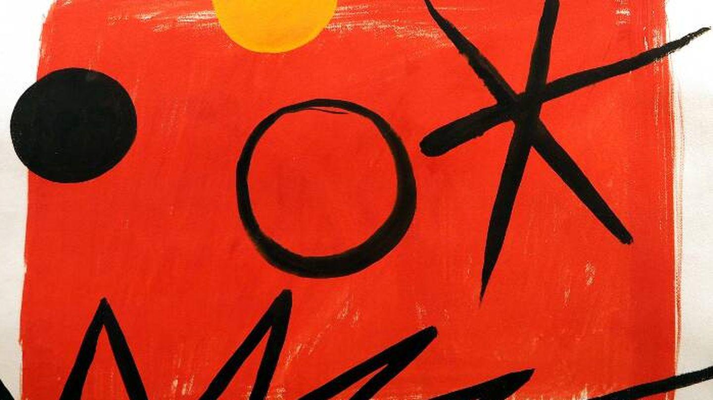 'Orange sun on red ground' (1963), de Alexander Calder