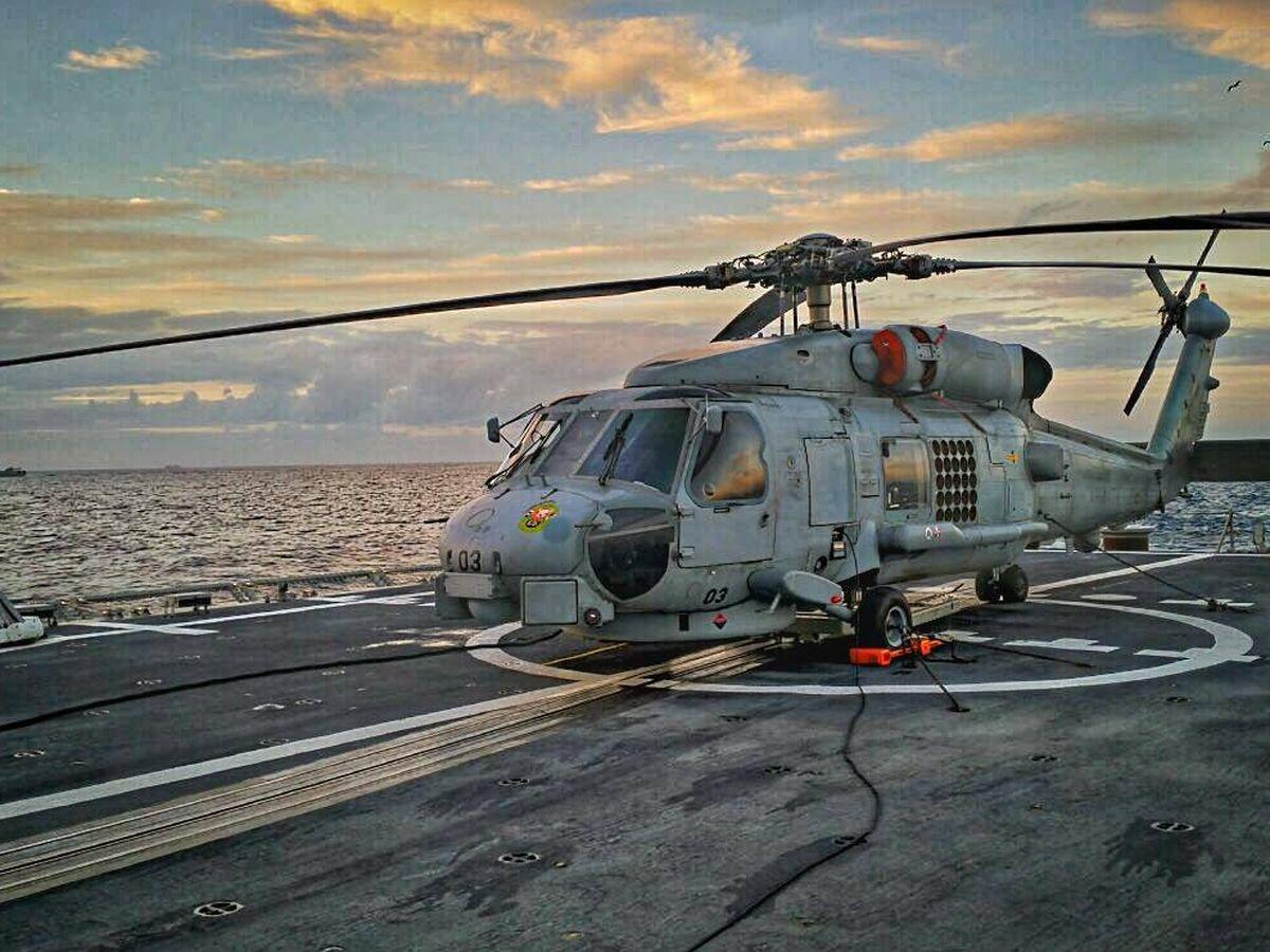 Foto: SH-60B en la cubierta del la Fragata Blas de Lezo F-103. (Foto: Flickr/Armada Española)