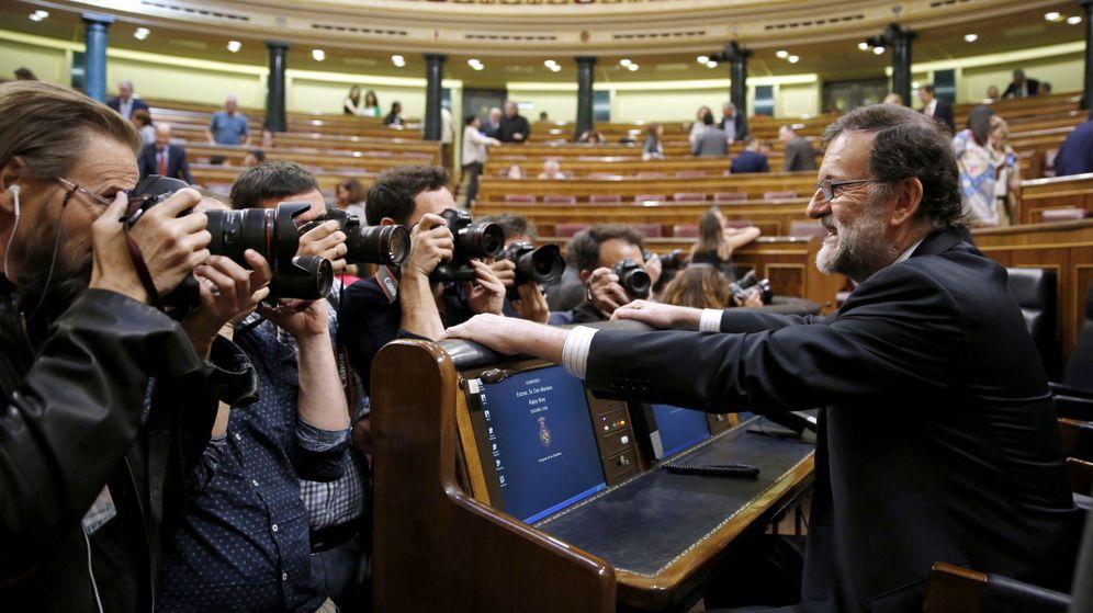 Foto: El presidente del Gobierno, Mariano Rajoy, a su llegada al debate de los Presupuestos Generales del Estado de 2017. (EFE)