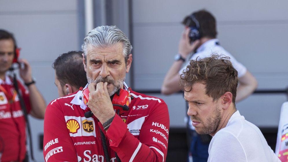 Foto: Arrivabene y Sebastian Vettel esta temporada. (Reuters)