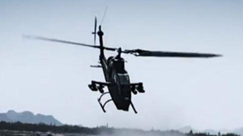 Un helicóptero se estrella en un rodaje