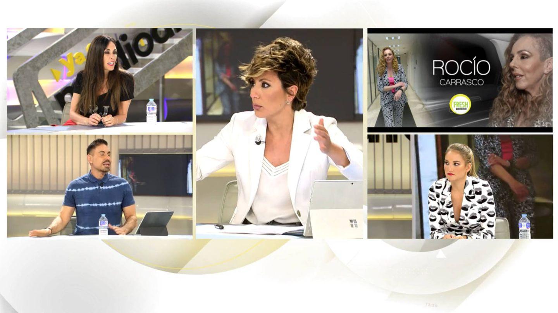 Sonsoles Ónega y sus colaboradores, en 'Ya es mediodía'. (Telecinco)