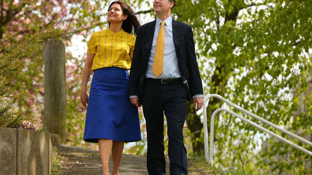 Foto: Miriam González y Nick Clegg. (Getty)