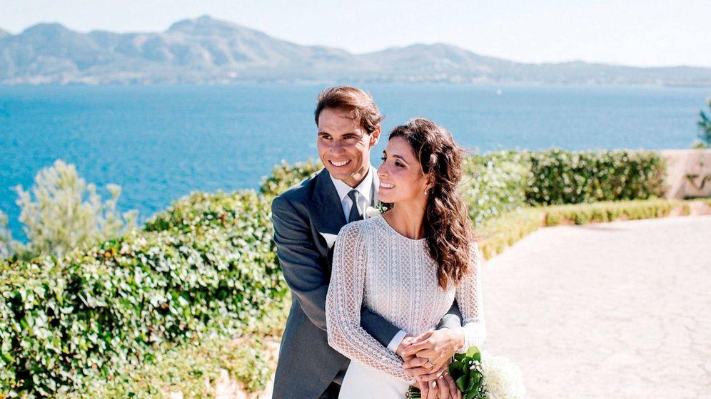 Foto: Rafa Nadal y Mery Perelló, el día de su boda. (EFE)