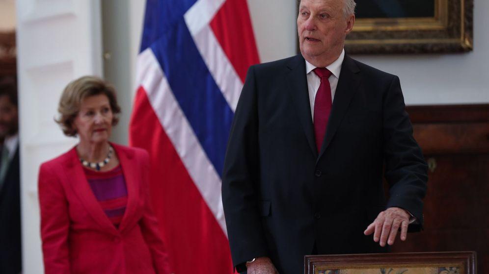 Foto: Visita de Estado de los reyes de Noruega en Chile. (EFE)