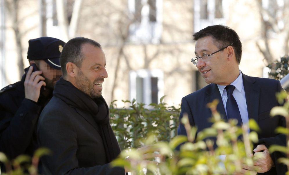 Foto: Sandro Rosell y Josep María Bartomeu, en una imagen de archivo. (EFE)