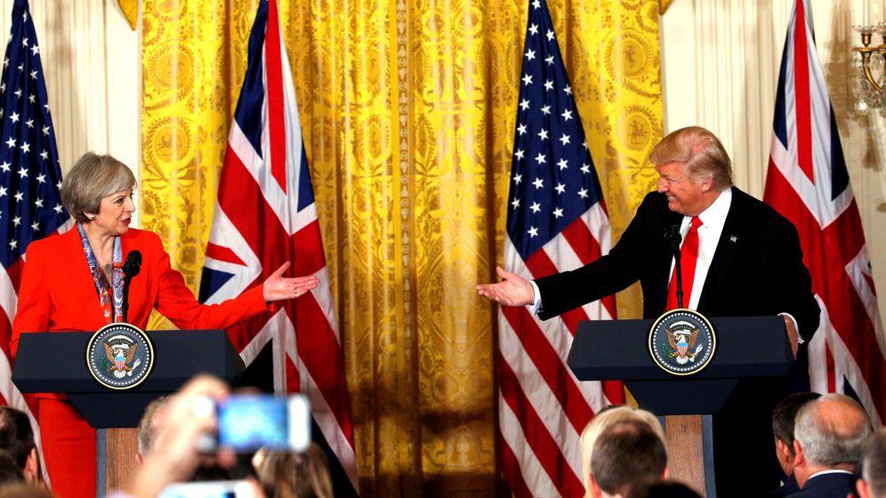 Foto: La primera ministra británica, Theresa May, y el presidente de EEUU, Donadl Trump. (Reuters)
