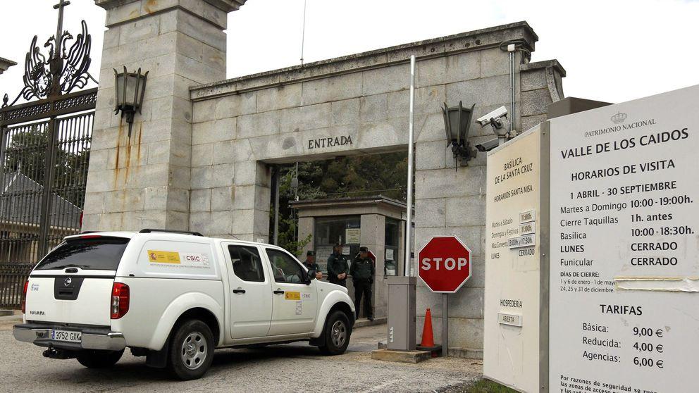 Los peritos inician los trabajos preliminares de exhumación en el Valle de los Caídos