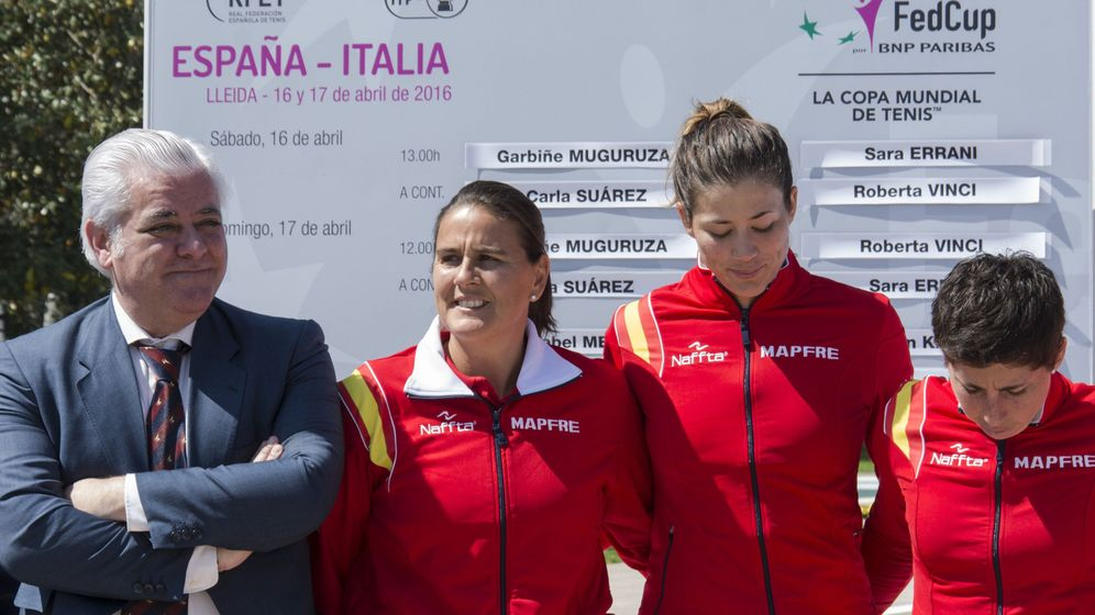 Foto: Conchita Martínez, Garbiñe Muguruza y Carla Suárez (EFE)