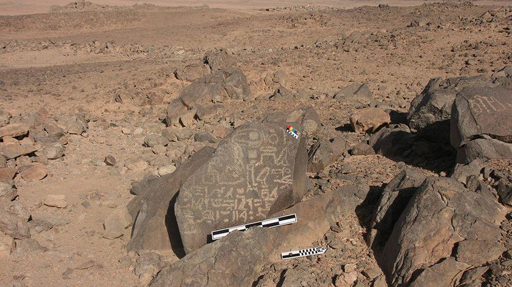 Foto: Algunas de las inscripciones encontradas en Wadi el-Hudi. (Wadi el-Hudi)